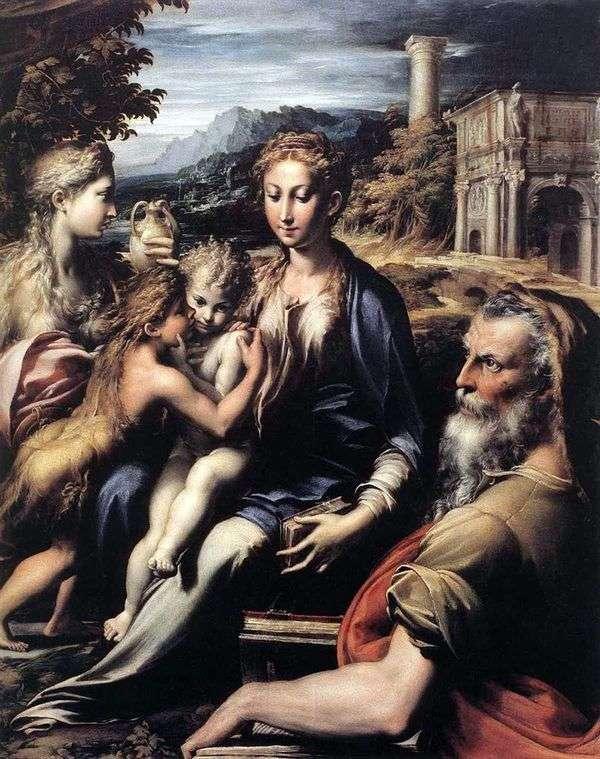 麦当娜登基,撒迦利亚,施洗约翰和玛利亚抹大拉   弗朗切斯科帕玛强尼诺