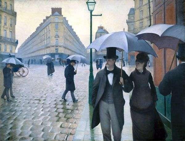 多雨天气的巴黎街   古斯塔夫Caibotte