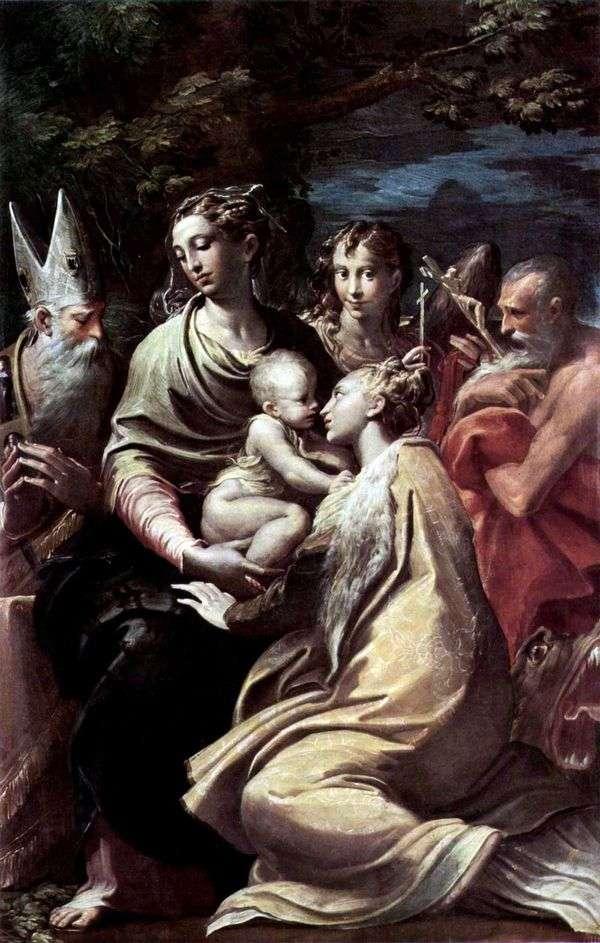 麦当娜与圣玛格丽特和其他圣徒   弗朗切斯科帕玛强尼诺