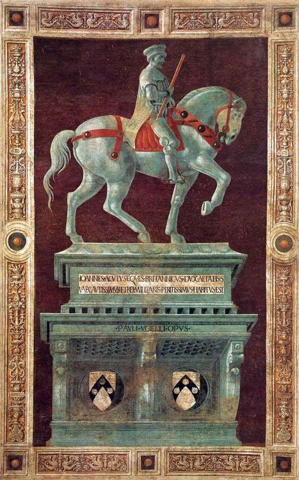 Condotier John Hockwood纪念碑   Paolo Uccello