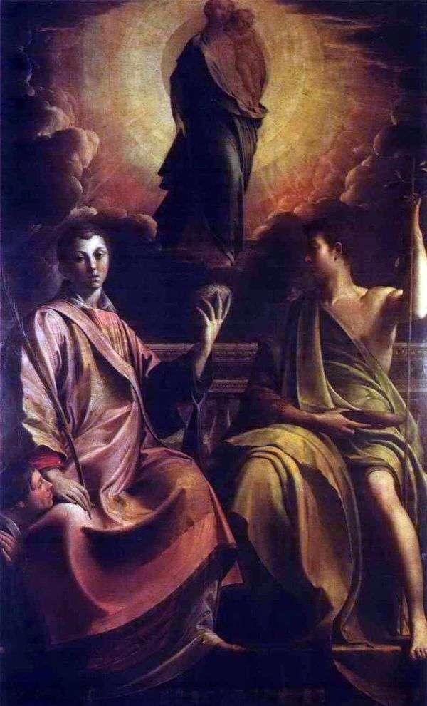 麦当娜,圣斯蒂芬和施洗约翰   弗朗切斯科帕玛强尼诺