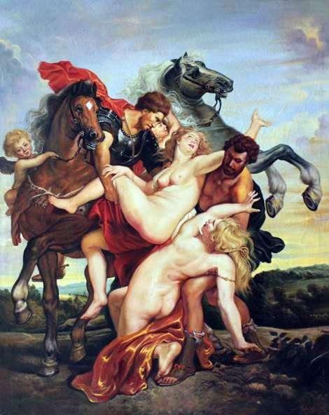 绑架Leucippus的女儿   彼得鲁本斯