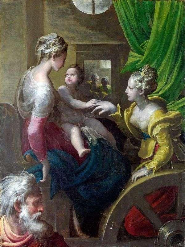 神圣的圣凯瑟琳订婚   Francesco Parmigianino