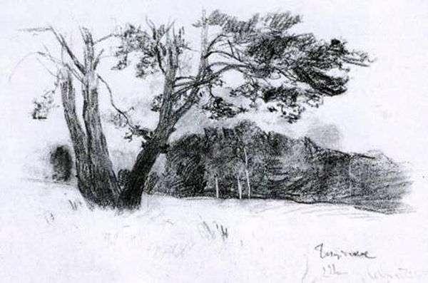 森林边缘   艾萨克列维坦