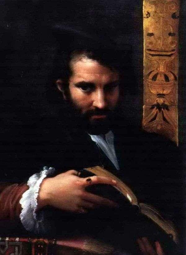 一个人的画象有书的   弗朗切斯科Parmigianino
