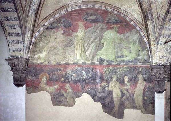 亚当和地球动物的创造   Paolo Uccello
