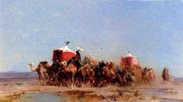 沙漠大篷车   Alberto Pasini