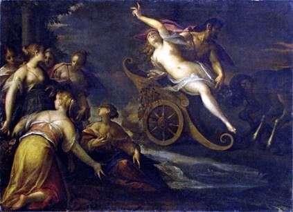 Proserpine的绑架   Hans von Aachen