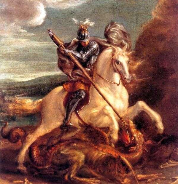 圣乔治打击龙   汉斯冯亚琛