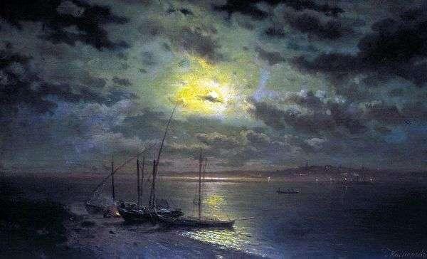 河上的月光之夜   列夫加米涅夫