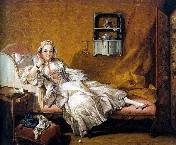 画家的妻子Marie Jeanne Buzot   Francois Boucher的肖像