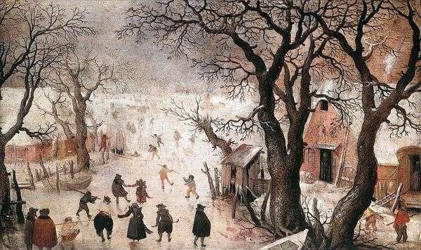 在城市的冬天   亨德里克Averkamp