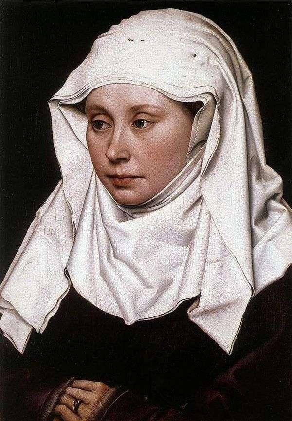 女人肖像   罗伯特坎彭