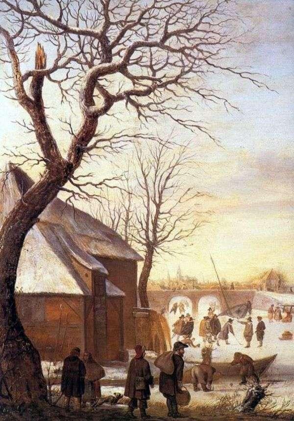 冬季景观   亨德里克阿威坎普