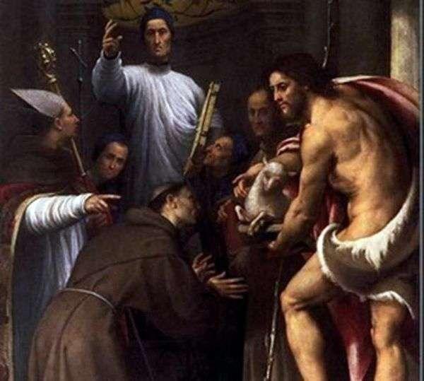 祝福Giustiniani与两个教规和圣徒   Perdenone