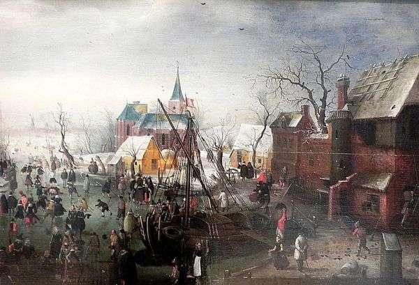 冬天在Eiselmayden   Hendrik Averkamp