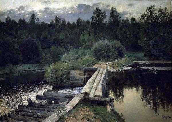 游泳池   Isaac Levitan