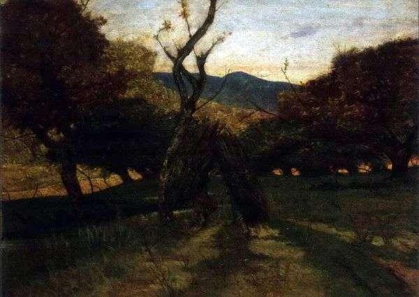 草丛的枝条   Giovanni Fattori