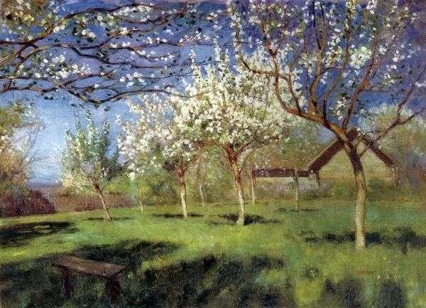 开花的苹果树   艾萨克列维坦