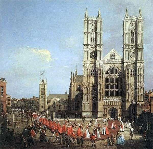 威斯敏斯特教堂和骑士游行   安东尼奥卡纳莱托