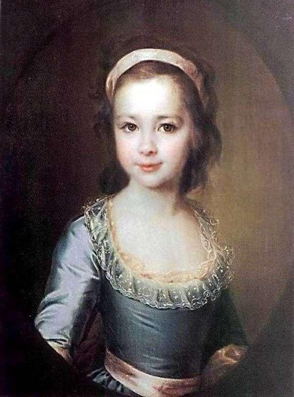 A. A. Vorontsova作为一个孩子的肖像   德米特里 列维茨基