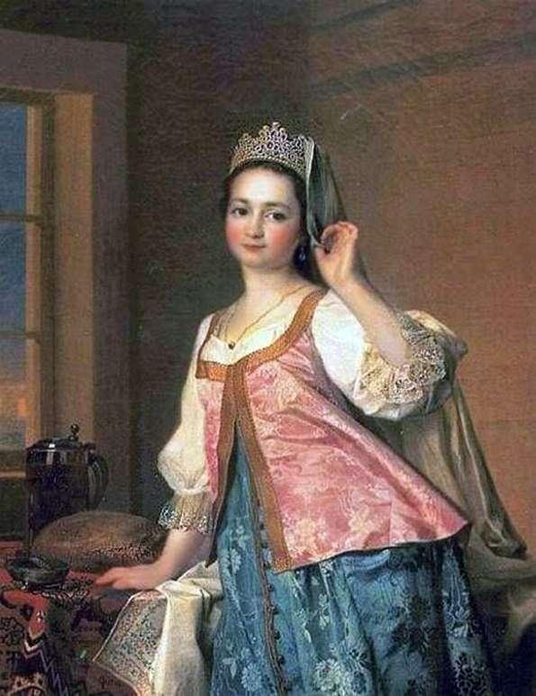 A. D. Levitskaya(Agashi)的肖像   德米特里 列维茨基