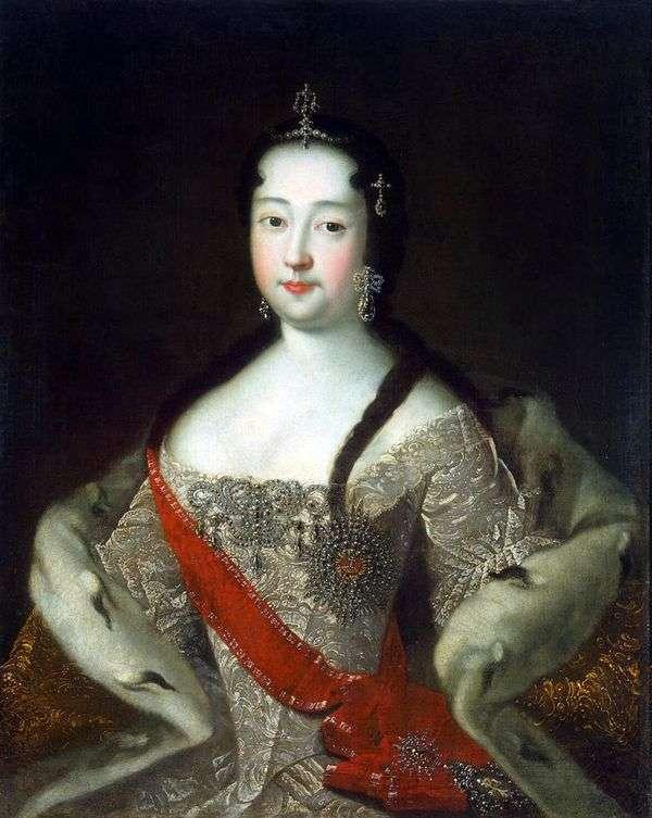 安娜彼得罗夫娜公主的肖像   Adolsky Ivan Nikolaevich