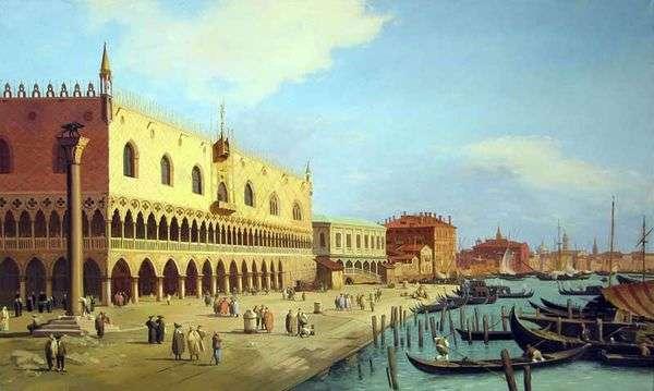 总督宫和Schiavoni长廊   安东尼奥卡纳莱托