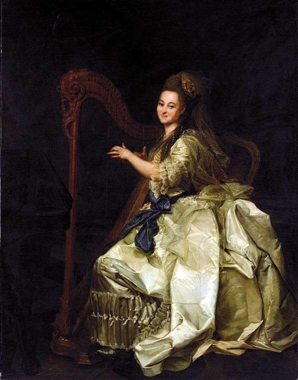 Glafira Ivanovna Alymova   Dmitry Levitsky的肖像