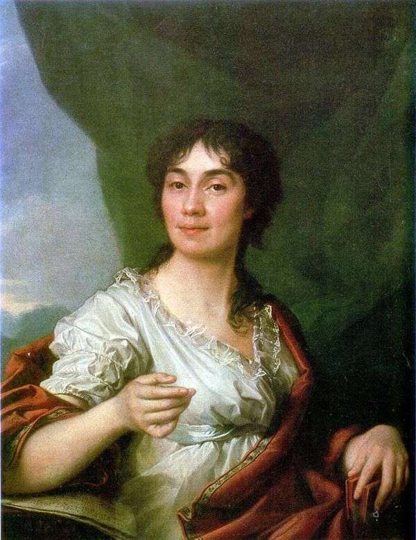 伯爵夫人A. S. Protasova的画像   德米特里列维茨基