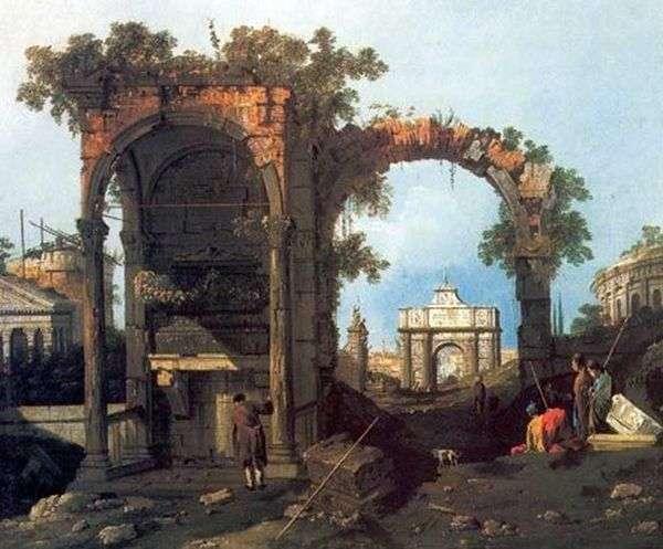 Capriccio与经典废墟   安东尼奥卡纳莱托
