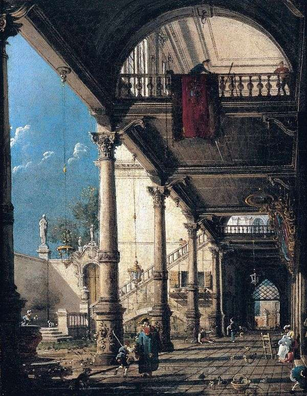 Capriccio与柱廊   安东尼奥卡纳莱托