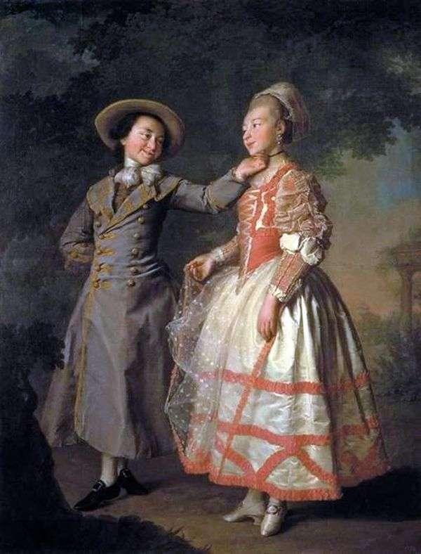 E. N. Khrushchova和E. N. Khovanskaya(Smolyanka)的肖像   Dmitry Levitsky