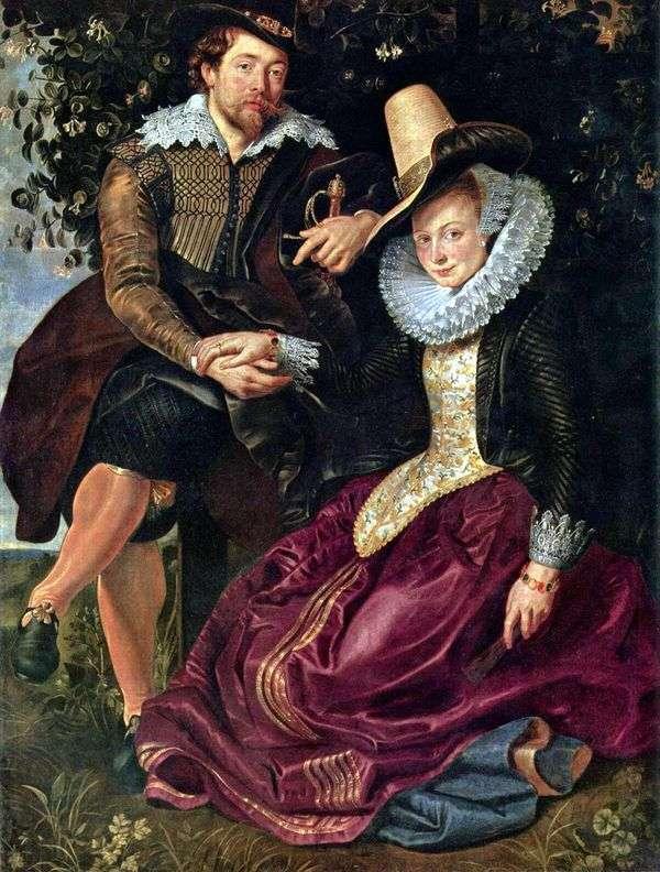 妻子伊莎贝拉布兰特的艺术家   彼得鲁本斯