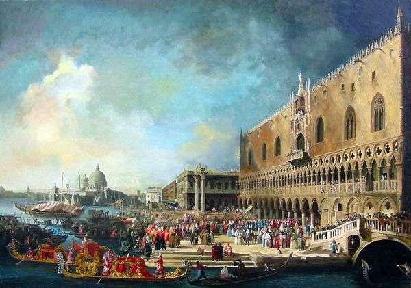法国驻威尼斯大使   安东尼奥卡纳莱托的接待