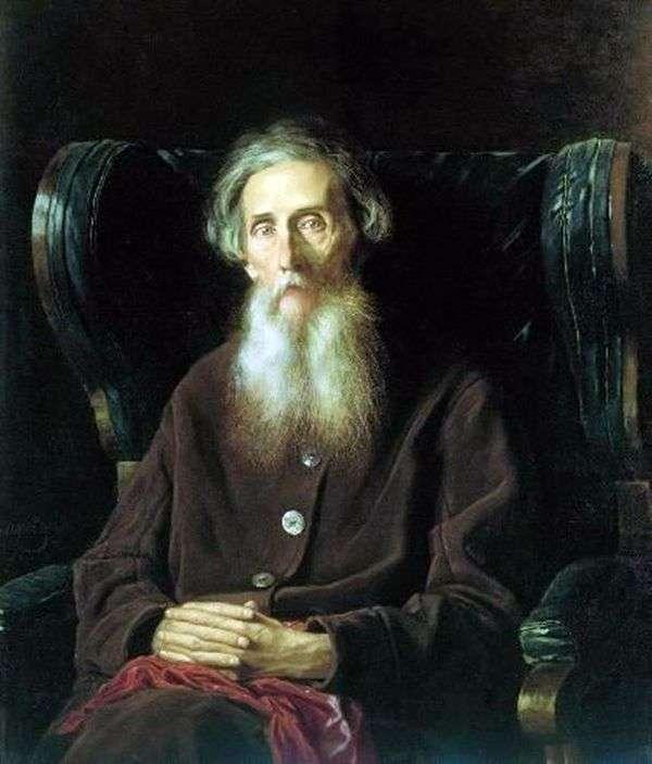 作家弗拉基米尔 伊万诺维奇 达尔的肖像   瓦西里 佩罗夫