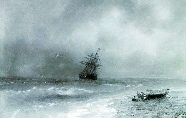 风雨如磐的海   Ivan Aivazovsky