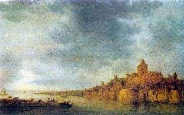 河Waal的看法在奈梅亨   Jan van Goyen的