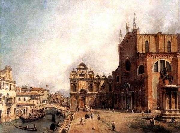 Sv教堂。约翰和保罗和圣马可学院   安东尼奥卡纳莱托