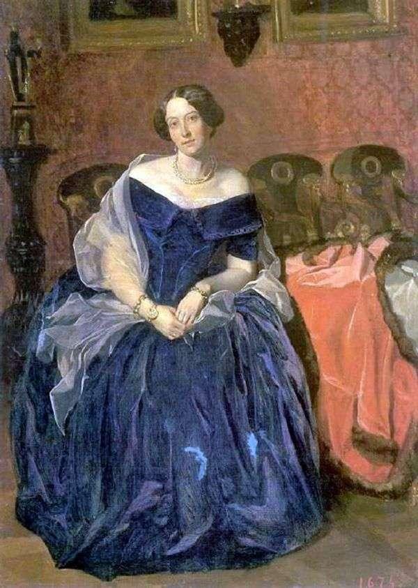 M. I. Krylova的肖像   帕维尔费多托夫