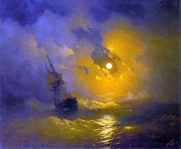 晚上在海上风暴   伊万艾瓦佐夫斯基