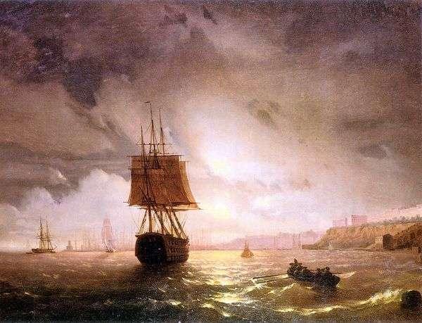 海湾在敖德萨,黑海   伊万Aivazovsky