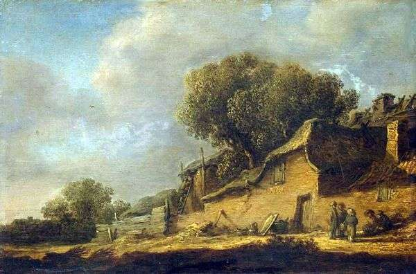 景观与农民小屋   Jan van Goyen