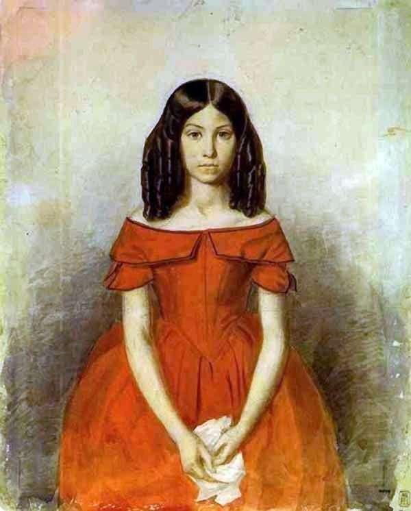 N. P. Zhdanovich在童年的画像   帕维尔费多托夫
