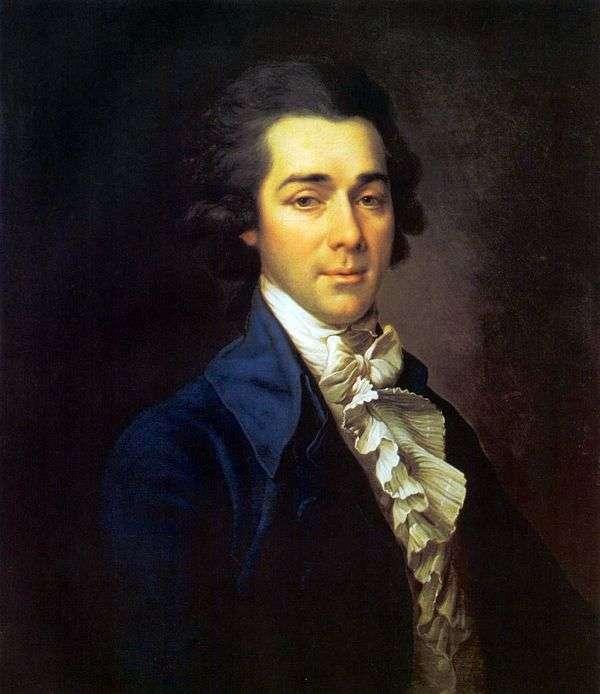 尼古拉亚历山德罗维奇利沃夫   德米特里莱维茨基的肖像