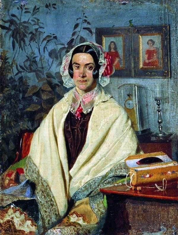 Olga Petrovna Zhdanovich,nee Chernysheva   Pavel Fedotov的肖像