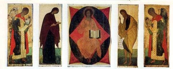 在Vladimir Chin Deesis的假设大教堂的圣像   安德烈鲁布列夫