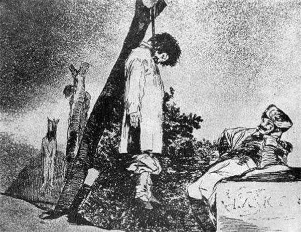 雕刻Caprichos(异想天开)战争的恐怖   Francisco de Goya