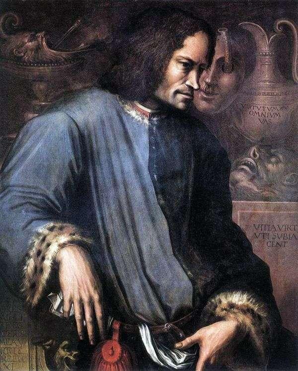 Lorenzo the Magnificent的肖像   Giorgio Vasari