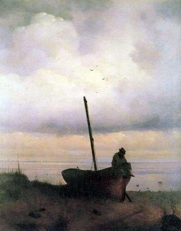 在圣彼得堡附近的海边的看法   伊冯Aivazovsky